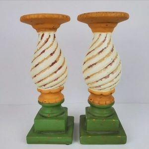 Pair of Carousel Candlestick Southern Livi…